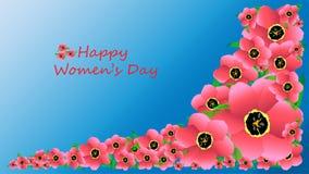 Claro - tulipas cor-de-rosa para o dia das mulheres ilustração royalty free