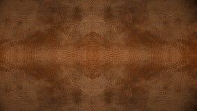 Claro usado - textura sem emenda de couro marrom do fundo do teste padrão para o material da mobília Fotografia de Stock Royalty Free