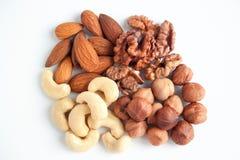 Clase cuatro de las nueces nutritivas Foto de archivo libre de regalías