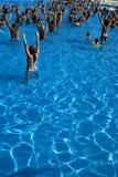 Clase de aeróbicos de agua Fotografía de archivo libre de regalías