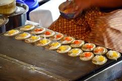 Clase de caramelo tailandés Khanom Buang Fotos de archivo libres de regalías