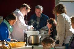 Clase de cocina Foto de archivo libre de regalías