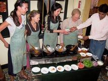 Clase de cocinar Fotografía de archivo libre de regalías