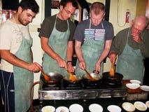 Clase de cocinar Imagenes de archivo