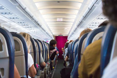 Clase de economía de Eurowiings Airbus 320 Imágenes de archivo libres de regalías