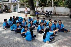 Clase de escuela vietnamita Imagen de archivo libre de regalías