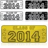Clase de 2014 etiquetas engomadas Imagen de archivo libre de regalías