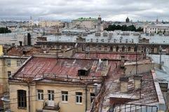 Clase de la altura en una vieja parte de la ciudad de St Petersburg Fotos de archivo libres de regalías