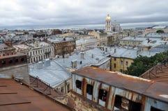 Clase de la altura en una vieja parte de la ciudad de St Petersburg Imagenes de archivo