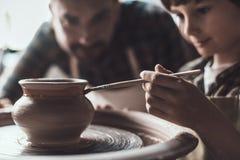 Clase de la cerámica foto de archivo libre de regalías