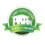 Clase de la energía propiedades inmobiliarias Imagen de archivo libre de regalías
