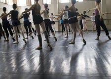 Clase del ballet Imagen de archivo libre de regalías