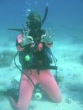 Clase del buceo con escafandra Foto de archivo libre de regalías