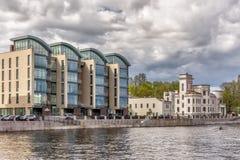 """Clase del edificio residencial de lujo - """"Stella Maris"""" en St Petersburg Fotos de archivo libres de regalías"""