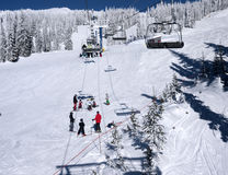 Clase del esquí Fotografía de archivo libre de regalías