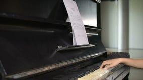 Clase del piano almacen de metraje de vídeo