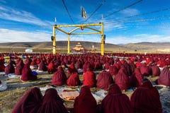 Clase del tantra de Tíbet en prado Foto de archivo