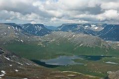 Clase en el lago de la montaña Foto de archivo