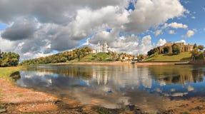 Clase en el río Zapadnaya Dvina, Vitebsk Fotos de archivo libres de regalías