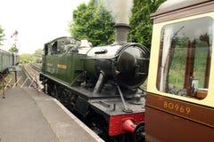 Clase pequeño Prairi del tren GWR 4500 de la locomotora de vapor Foto de archivo libre de regalías