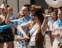 Clase polaca del zumba de la danza del estudiante de la belleza Fotografía de archivo