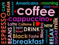 Clases de coffe Imagen de archivo libre de regalías