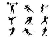 Clases de deporte: fútbol, hockey y otros stock de ilustración