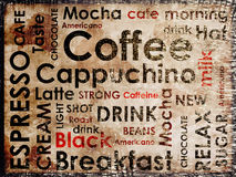 Clases de fondo del coffe Imagen de archivo