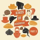 Clases de headwear Parte 3 Imagen de archivo