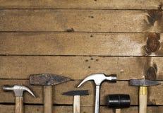 Clases de martillos Imagen de archivo