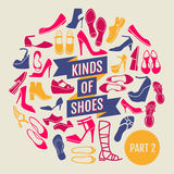 Clases de zapatos Parte 2 Fotografía de archivo libre de regalías
