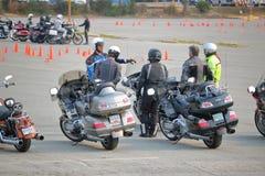 Clases e instrucción de la seguridad de la motocicleta imagen de archivo libre de regalías