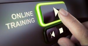 Clases y plataforma en línea de los tutoriales Foto de archivo libre de regalías