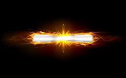 Clash of Bullets. Illustration of clash of fiery bullet producing fire flames Stock Image