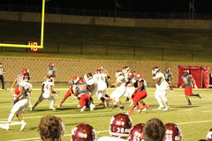The clash. Mesquite vs horn football night Royalty Free Stock Images