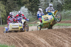 Clash of two crew in difficult terrain Stock Photography