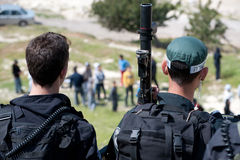 Clashes in East Jerusalem Royalty Free Stock Image