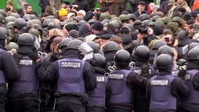 Clashes with the police stock footage