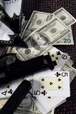clasic美元比赛匪徒仍然开枪黑手党 库存图片