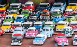 Clasic american oldtimer cars as toys royalty free stock photography