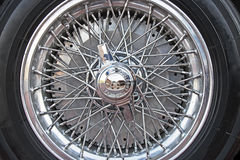 Clasic Car Wheel Stock Image