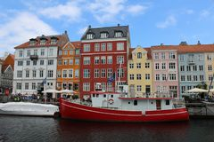 Beautiful picture of the architecture of Copenhagen royalty free stock image
