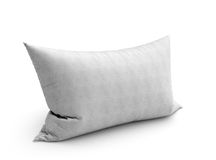 Clasic white pillow 3d illustration on white background Royalty Free Stock Photo