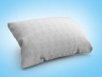 Clasic white rectangular pillow 3d illustration on gradient. Clasic white rectangular pillow 3d illustration on gradient Royalty Free Stock Image