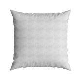 Clasic white square pillow 3d illustration on white background Stock Photos