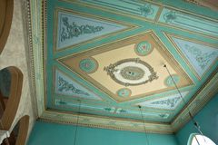 Clasical handcraft ceiling fresco Stock Images