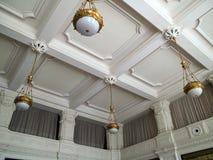 Clasical handcraft ceiling fresco Royalty Free Stock Photos