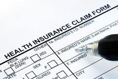 Clasifíe la forma de demanda del seguro médico Imagen de archivo