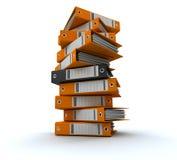 Clasifiando, archivos de ordenación Foto de archivo