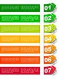 Clasificación de la energía bajo la forma de etiqueta engomada Imagen de archivo libre de regalías